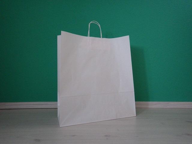 fehér sodrottfüles reklámtáska 45x48x17cm méretben